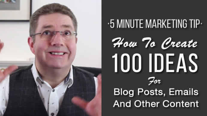 100 Ideas for Blog Posts and Emails