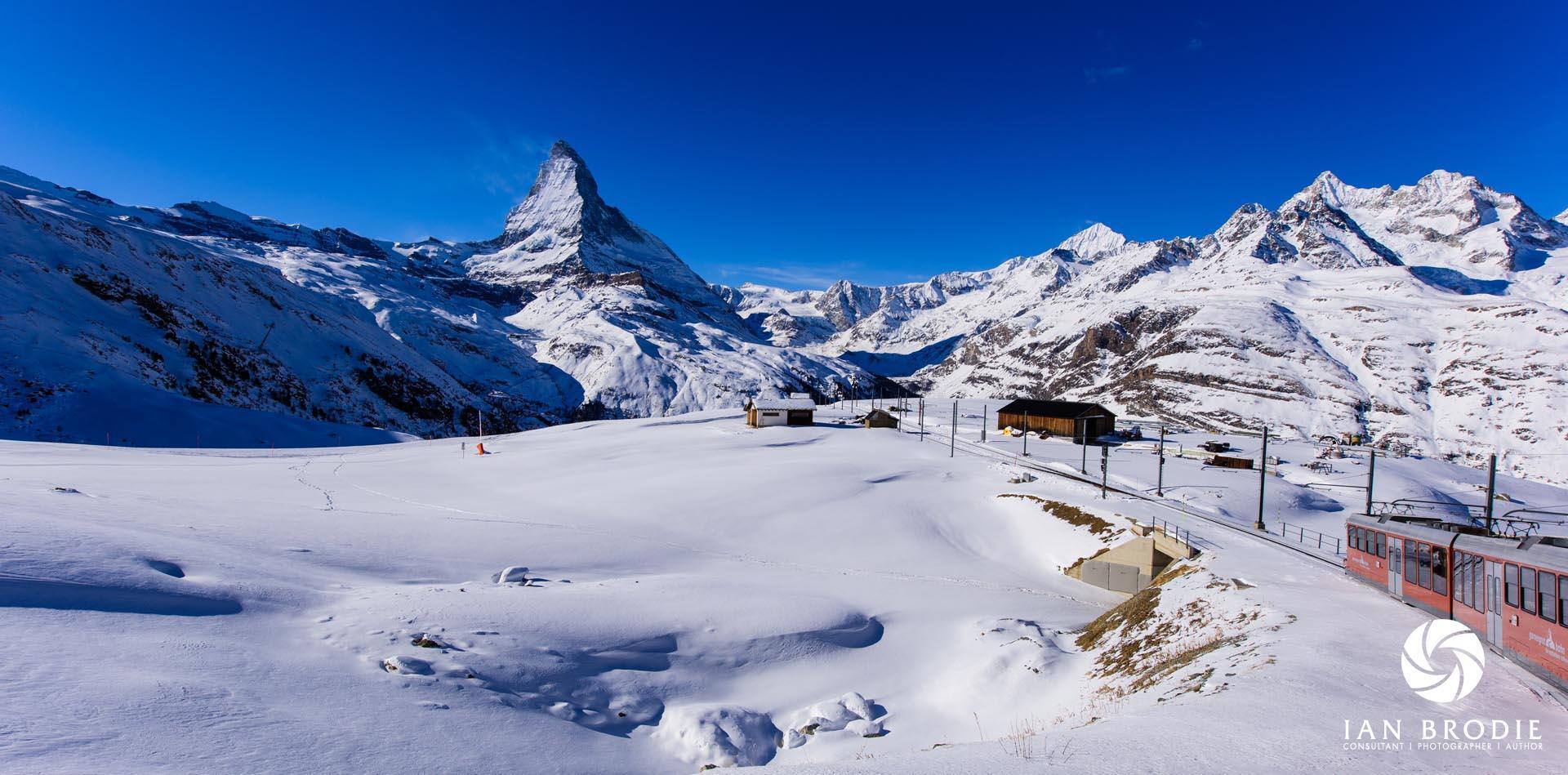 The Matterhorn from the Gornergrat Bahn.
