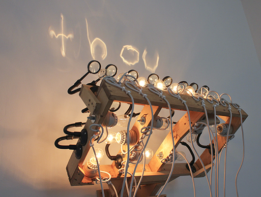 Ian Burns sculpture. increments. 2011