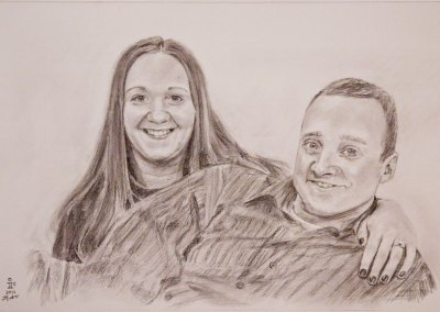 Sister & Fiancé Drawing