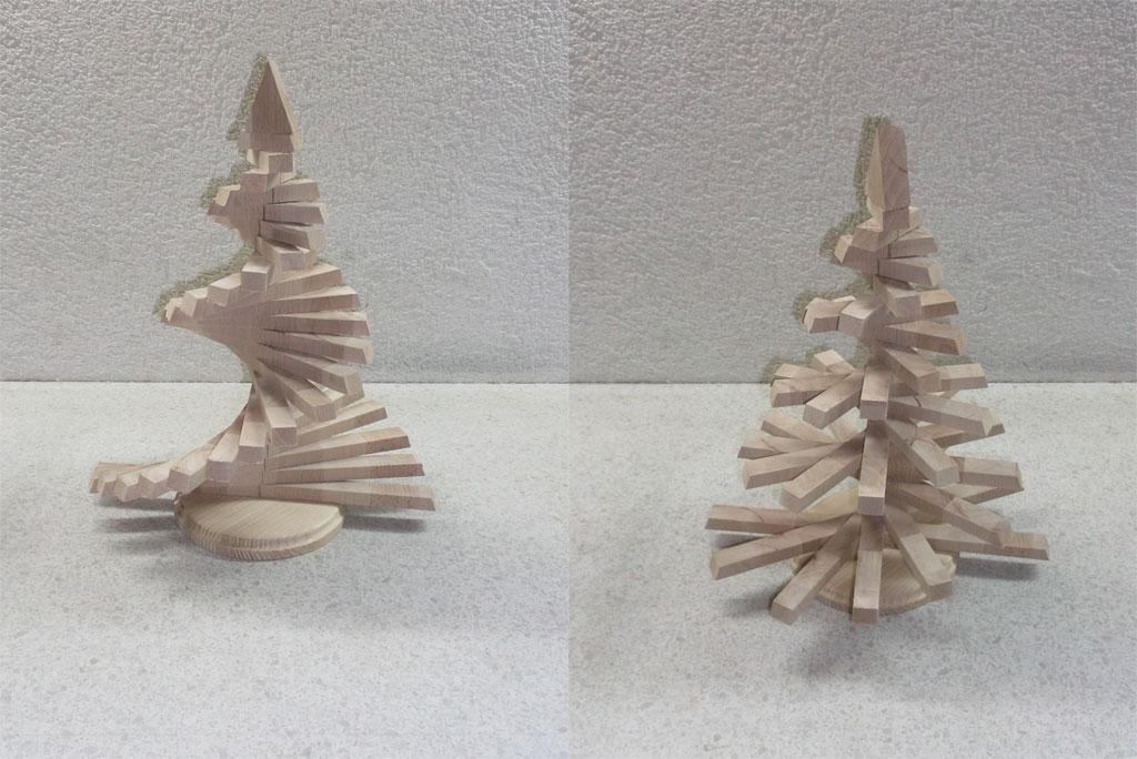 Weihnachtsbaum aus Holz bauen