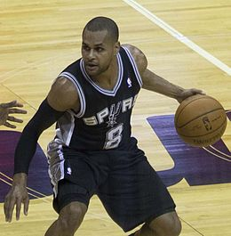 Patty Mills playing for the Spurs (click to enlarge or to source).