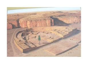 Pueblo Bonito as it may have looked in 1100-1200 AD (click to enlarge).