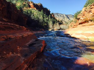 Sliding Rock in Oak Creek Canyon, close to Sedona (click to enlarge).