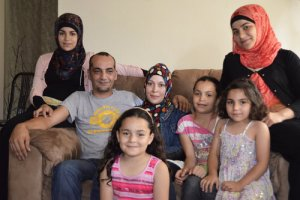 Mohammad and Linda Jomaa al-Halabi, along with their five daughters, are among the fewer than 1,000 Syrian refugees who have been resettled in the U.S. You can see the new hope radiating from their faces? Why can't the USA multiply this by ten?