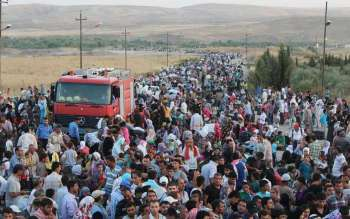 Syrian refugees stream into Iraq (click to enlarge or to source, then back-arrow to return to blog).