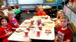 Several of the kids in Kim's class (click to enlarge then back-arrow to return).
