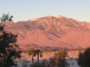 San Jacinto mountains rising above Palm Desert (click to enlarge, then back-arrow to return to blog).