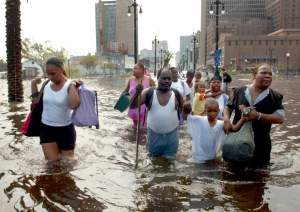 Katrina victims carrying all they can (click to enlarge or to source, and then back-arrow to return to blog article).