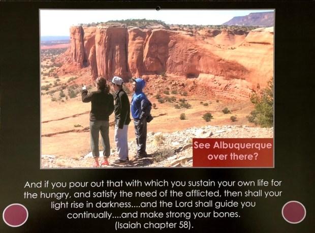 Red sandstone looking towards Albuquerque