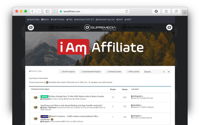 iAmAffiliate Review, an Underground Hardcore Affiliate Forum with a Personal Touch