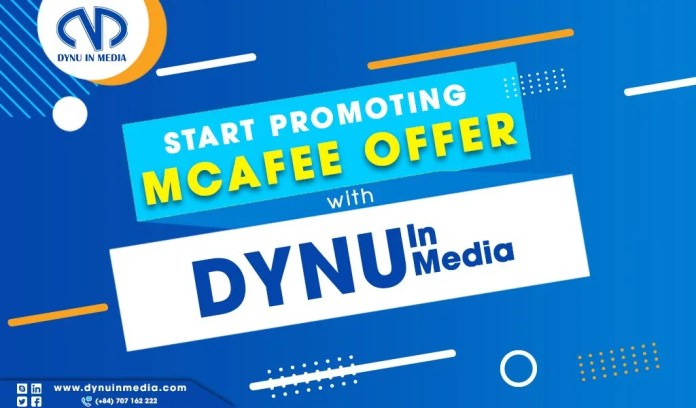How to Promote McAfee Anti-Virus Offer from Dynu In Media Network