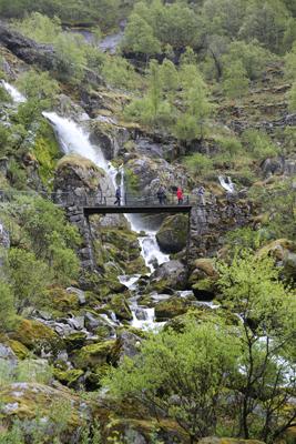 Aurora-May16-Birksdal-Glacier-waterfall-2