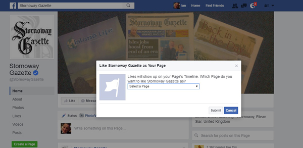 Select-a-Facebook-Page