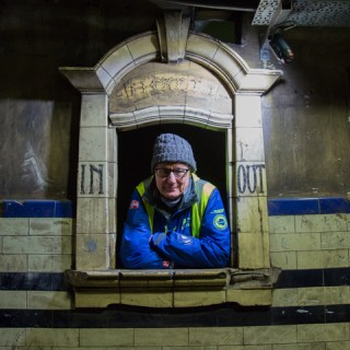In the tunnels beneath Euston Station