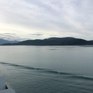 Sailing into Juneau, Alaska
