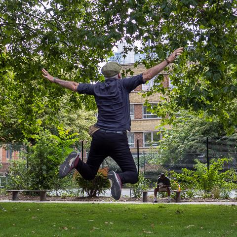 Vebi Koca jumping by Ian Hardacre