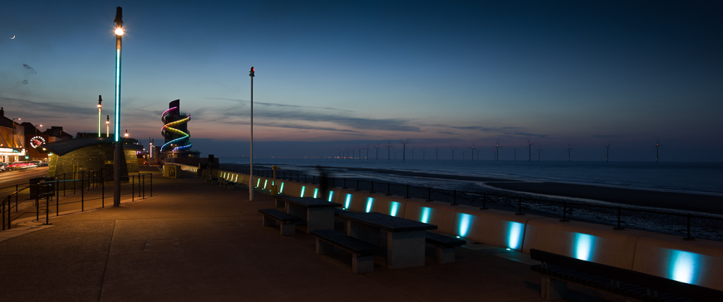 Moonrise over Redcar