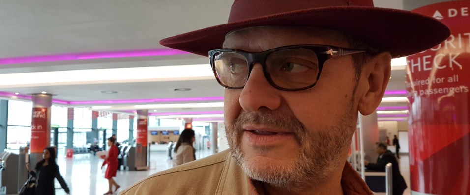 John Cumberland at Heathrow check in