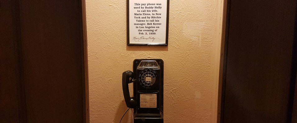 Buddy Holly made his last call to his wife on this phone
