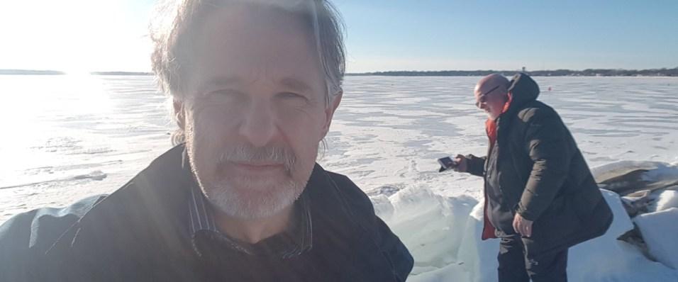 Ian McCann selfie with David Taylor