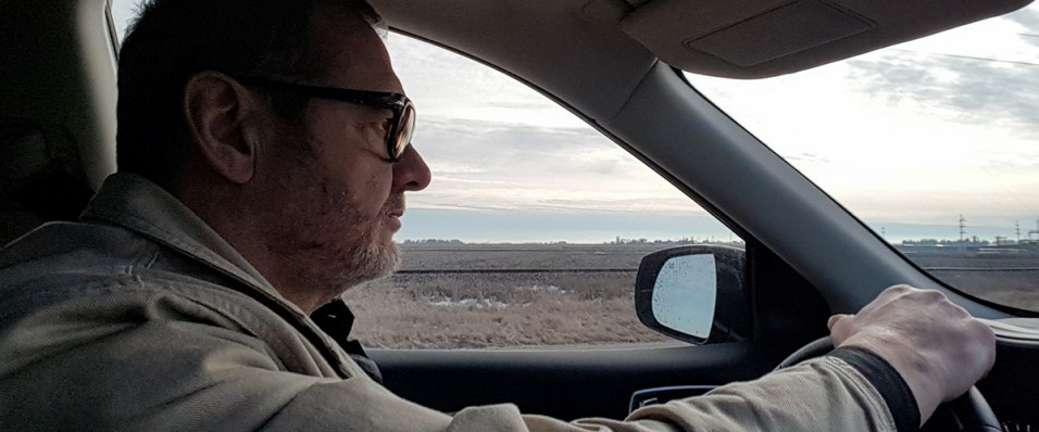 John Cumberland driving