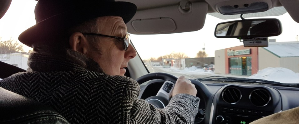 The Day the music Died documentary in Red Wing, John Young driving John Cumberland and Glasshouse Media
