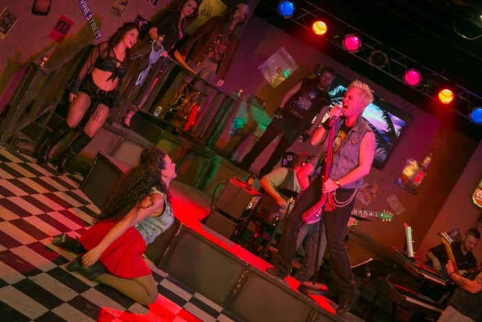 Brendan Brady stars in Rock of Ages at The Modern CdA. Photo: Dan Baumer.