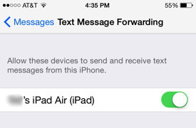 Enable Text Forwarding
