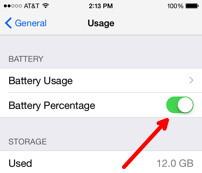 Battery Percentage Slider