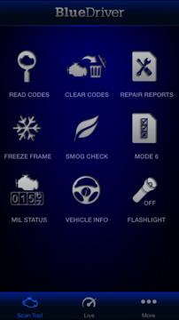 BlueDriver Home Screen