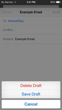Save Draft Email
