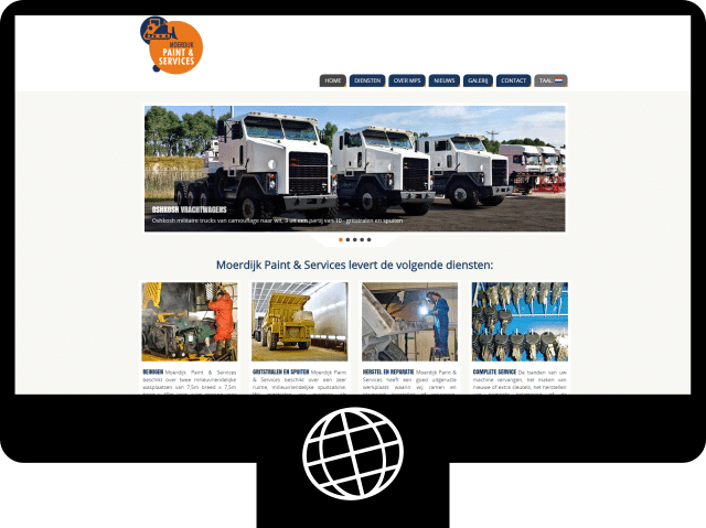 Moerdijk Paint & Services - website