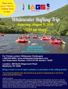 2018 IAGS Whitewater Rafting Flyer