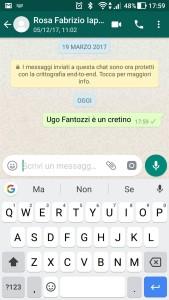cancellare i messaggi di WhatsApp