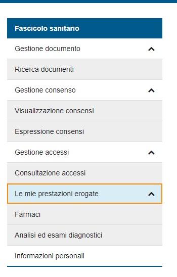 Fascicolo Sanitario Elettronico (MENU)