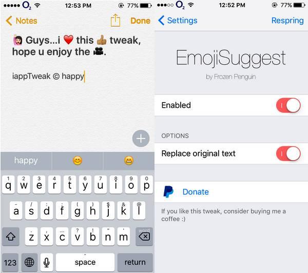 emojisuggest-tweak-ios-9-3-3-cydia-settings-iapptweak