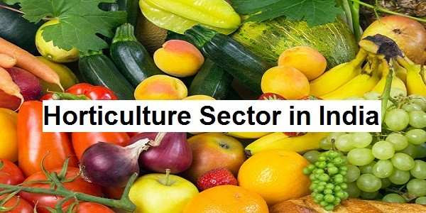 horticulture sector in india upsc essay notes mindmap