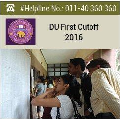 DU-1st-Cutoff-2016