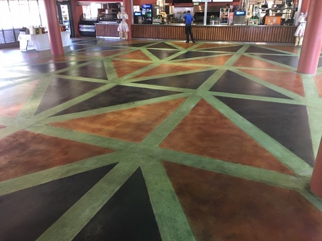 restaurant floor coatings, stained concrete, sealed concrete