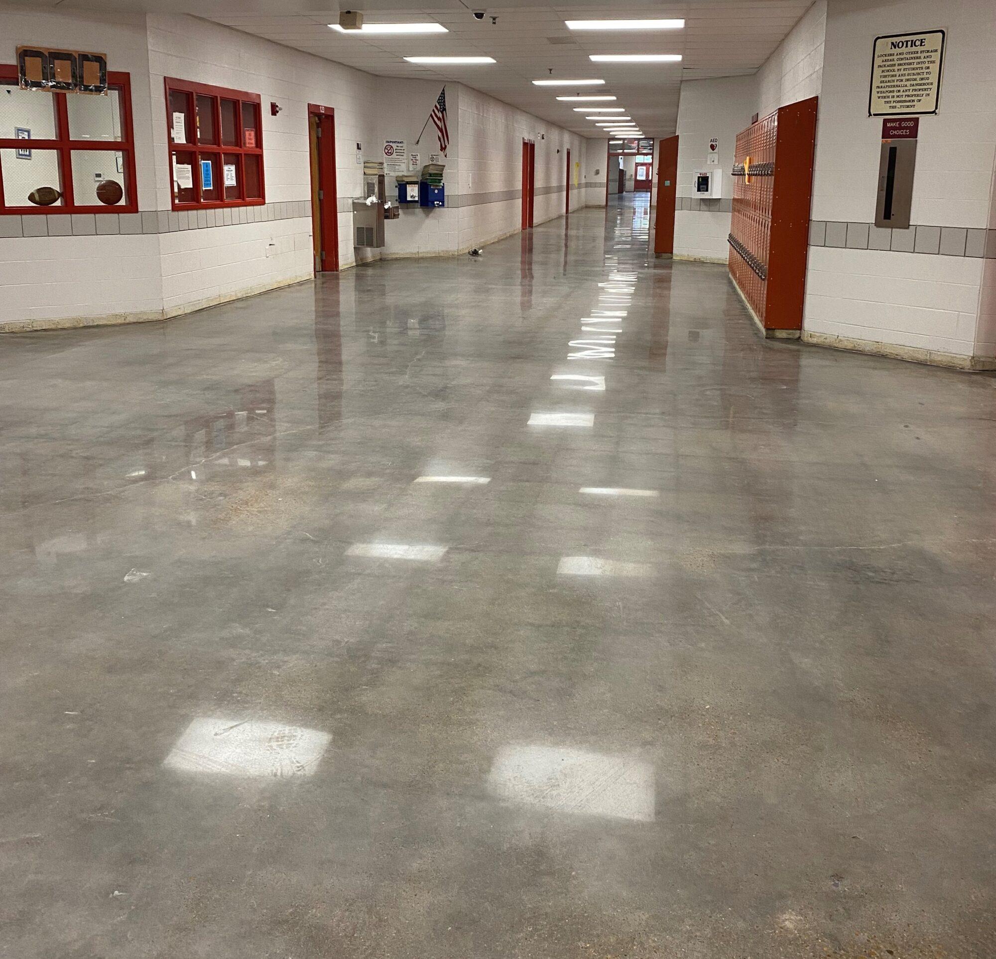 Polished concrete, polished concrete floors, flooring contractors Brighton TN, floor surface preparation, TeamIA, Industrial Applications Inc, Brighton TN, Memphis, TN