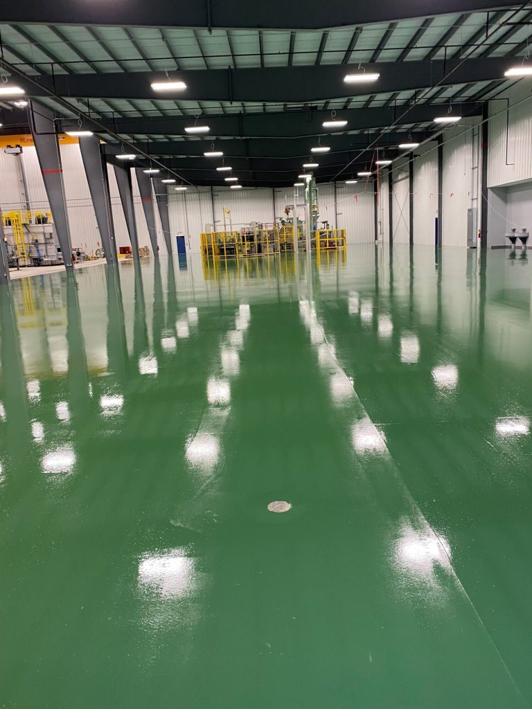 Epoxy floor coatings, concrete floor coatings, industrial concrete floors, industrial concrete flooring, TeamIA, Industrial Applications Inc. IA30yrs