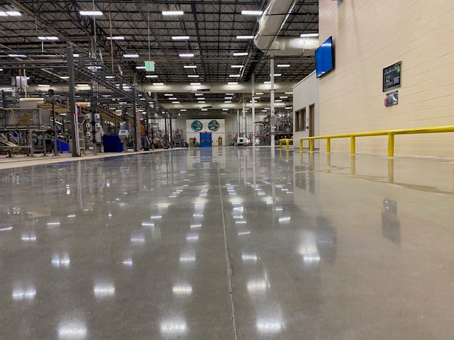 Manufacturing floors, polished concrete, polish concrete, Industrial Applications Inc., IA30yrs, Green flooring solution