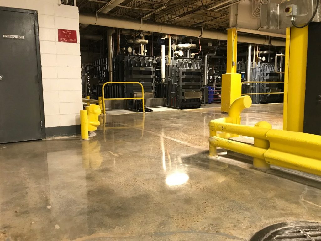 polished concrete, medical supply manufacturing flooring