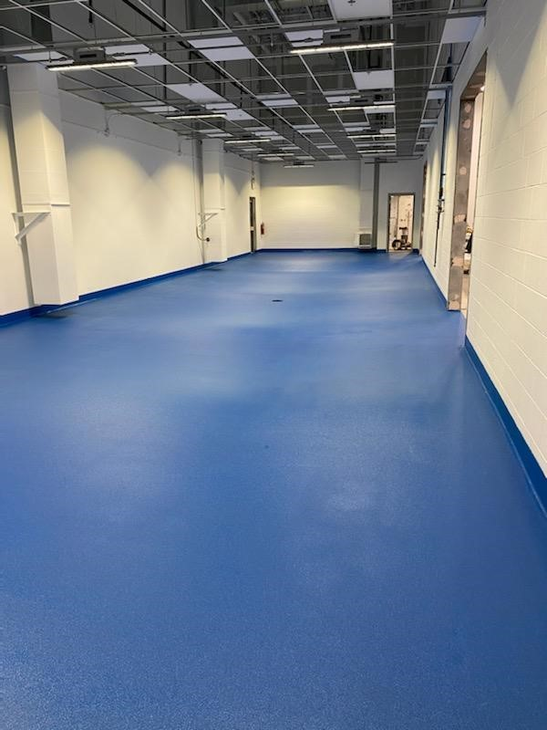Urethane cement, urethane concrete, industrial floor coatings, concrete floor coatings, Industrial Applications, Inc., IA30yrs, hand troweled cove base