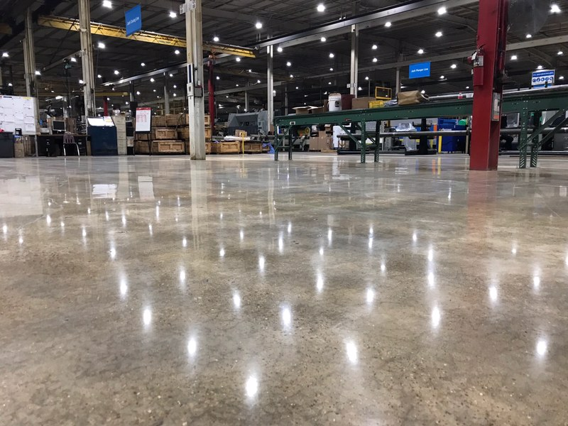 polished concrete, manufacturing floors