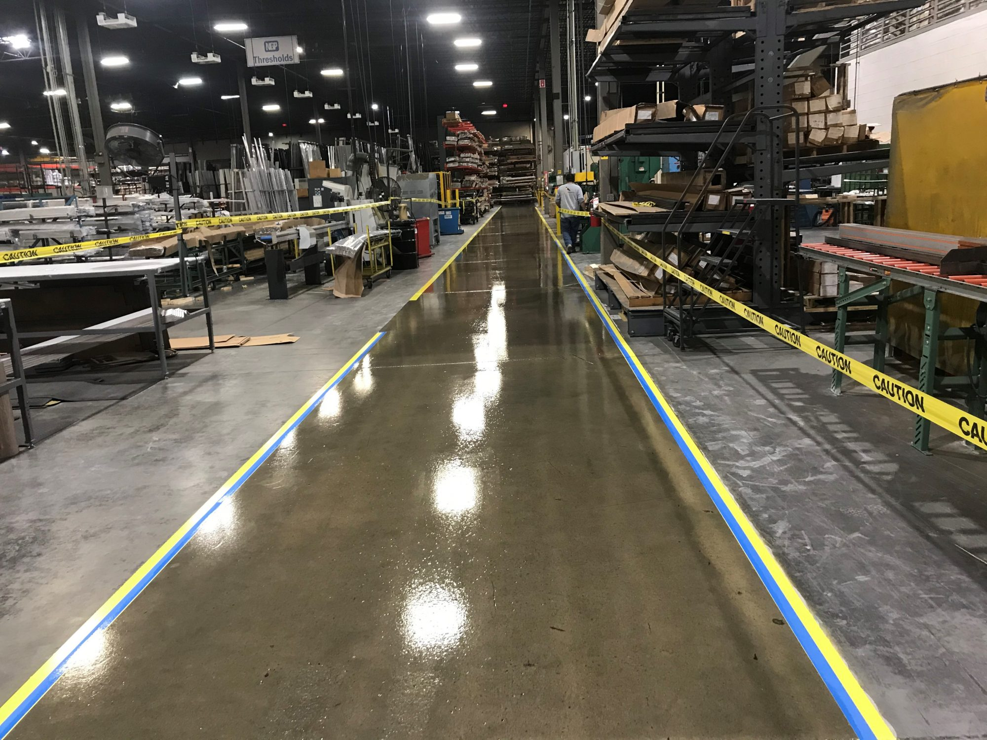 epoxy floor coatings, Concrete aisle coatings, safety striping, 5S, Industrial Applications Inc., IA30yrs, epoxy floor coating, concrete floor coatings