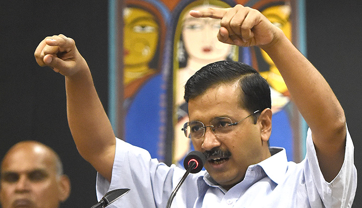 Delhi Chief Minister Arvind Kejriwal Administers Pledge To School Children To Fight Pollution