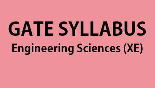 GATE XE Syllabus