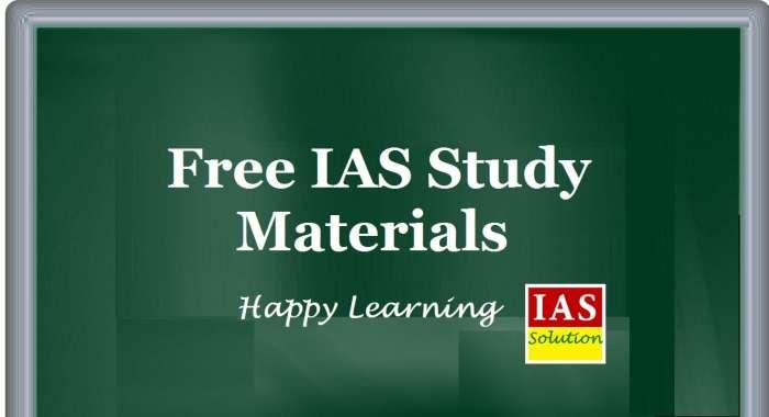 Free IAS Study Materials